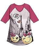 Petit Lem Girls' Big Nightgown, Fuchsia, 10