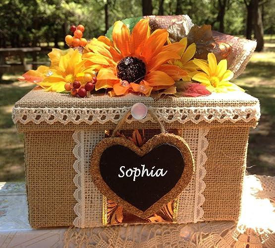 Amazon Com Sunflower Wedding Bridesmaid Gift Box Rustic Handmade