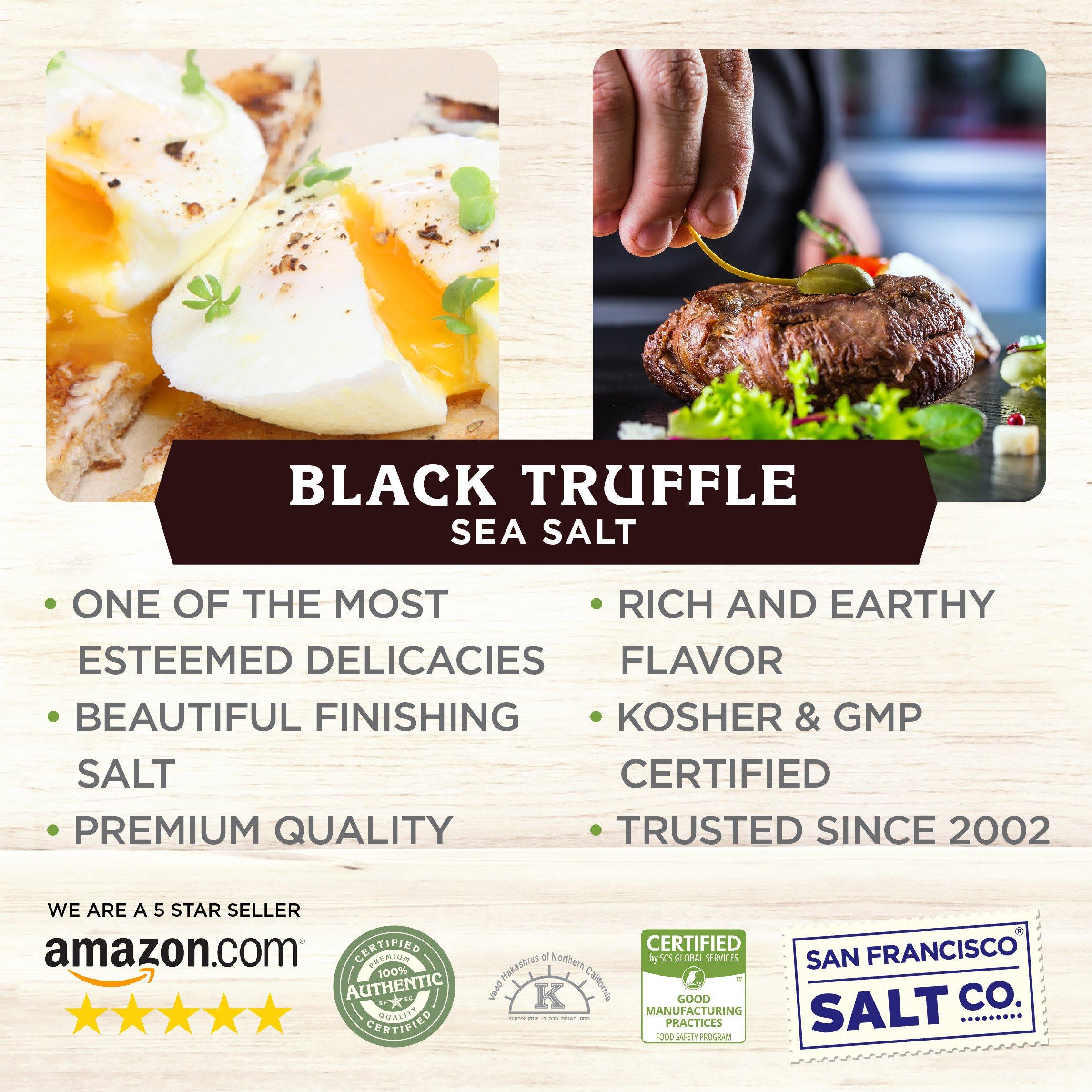 1 lb. Bulk Bag - Authentic Italian Black Truffle Salt by San Francisco Salt Company (Image #6)