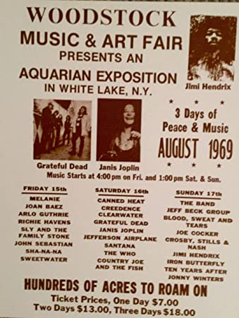Amazon Advertisement For Woodstock 1969 Sepia Poster Posters