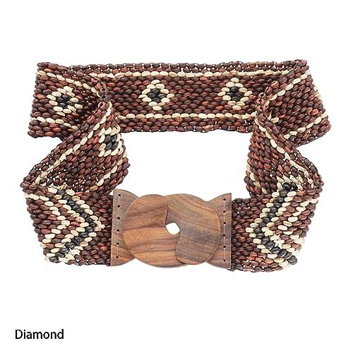 1World para mujer pareos Diamond cinturón, diseño de coco Bead