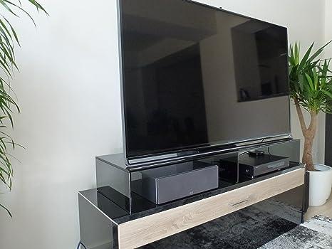 Fernseher Glas Aufsatz Möbel TV-Schrank Untersatz Monitor Erhöhung Ablage Podest