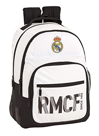 Real madrid cf Mochila Doble con cantoneras Adaptable a Carro.: Amazon.es: Equipaje