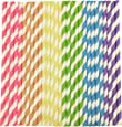 Straws Paper 150Pcs with Recycled Packaging Biodegradable Bulk Drinking Straws Decorations for Party Birthday Wedding Baby Shower Valentine in Bright Rainbow Lollipop Multi-Color (150Pcs)