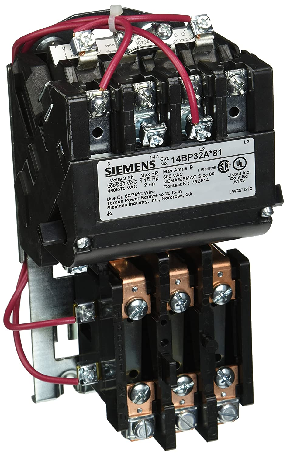 Sie 14BP32AA81 Heavy Duty Motor Starter, Ambient Compensated ... on