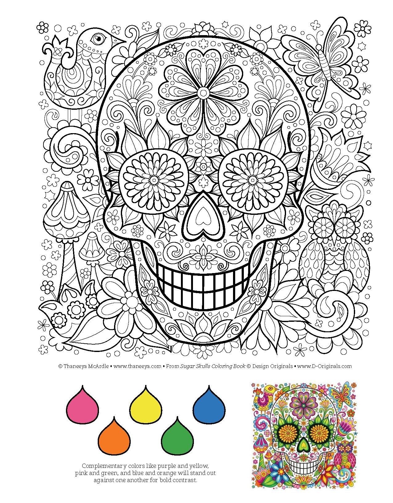 Amazon Sugar Skulls Coloring Book Is Fun Design Originals 9781497202047 Thaneeya McArdle Books