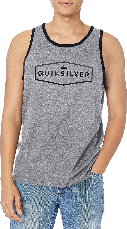 Quiksilver Mens Cotton Logo Sleeveless Tank Top Shirt BHFO 8956