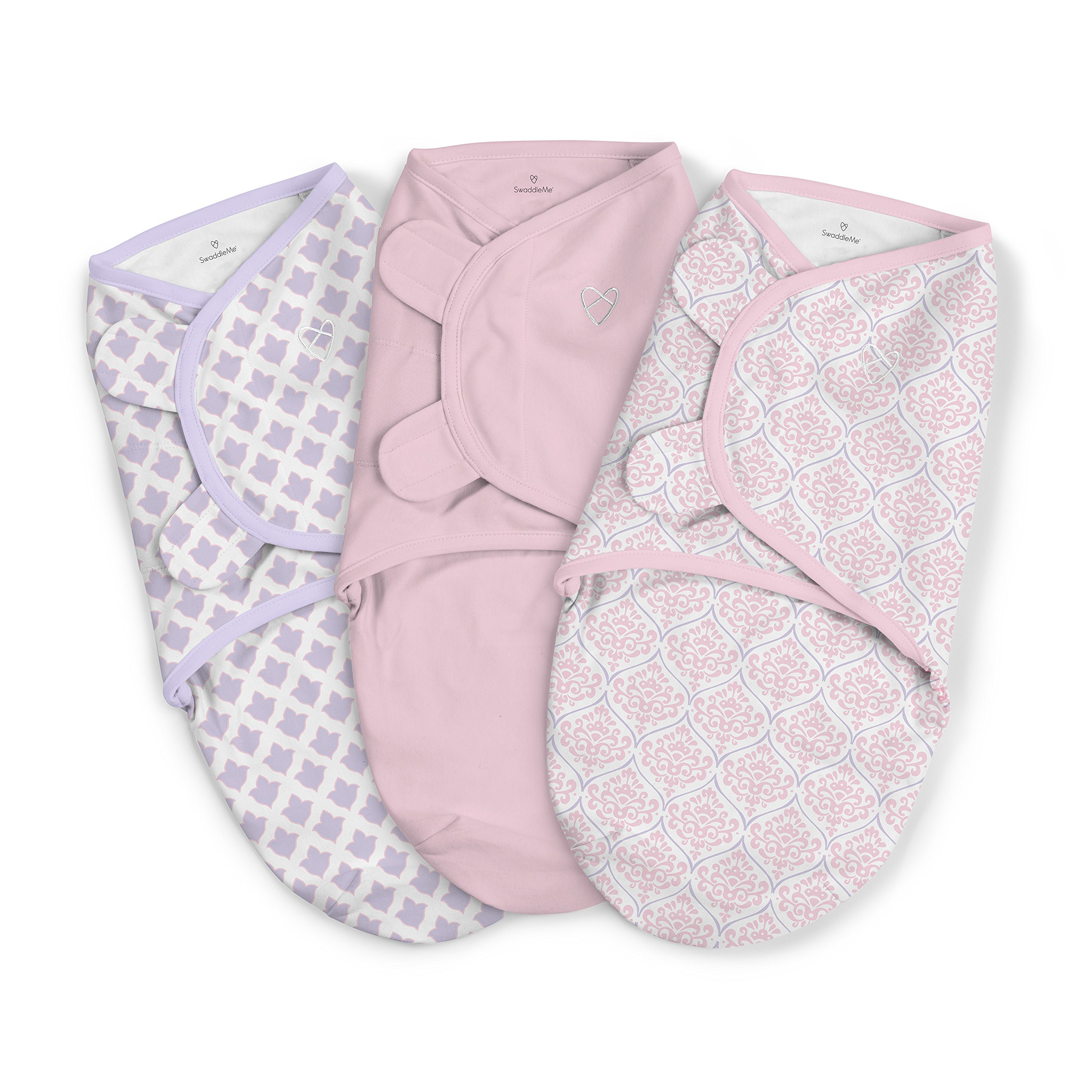 SwaddleMe Original Swaddle 3-PK, You're Mine Adeline, Large