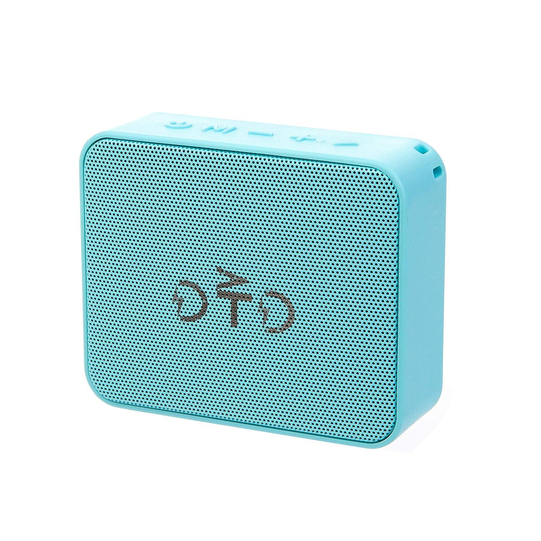 DTD ミニワイヤレスBluetooth V4.0ポータブルスピーカー HDサウンドと低音 ブルー   B07KVK37QF