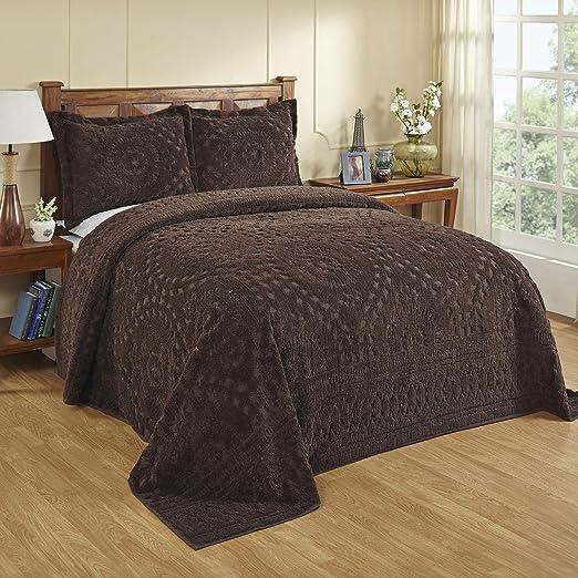 Pan Overseas Rio Bedspread Better Trends Chocolate 102 x 110//Queen