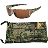Hornz Polarized Sunglasses for Men Brown Forest Camouflage Durable Light Weight