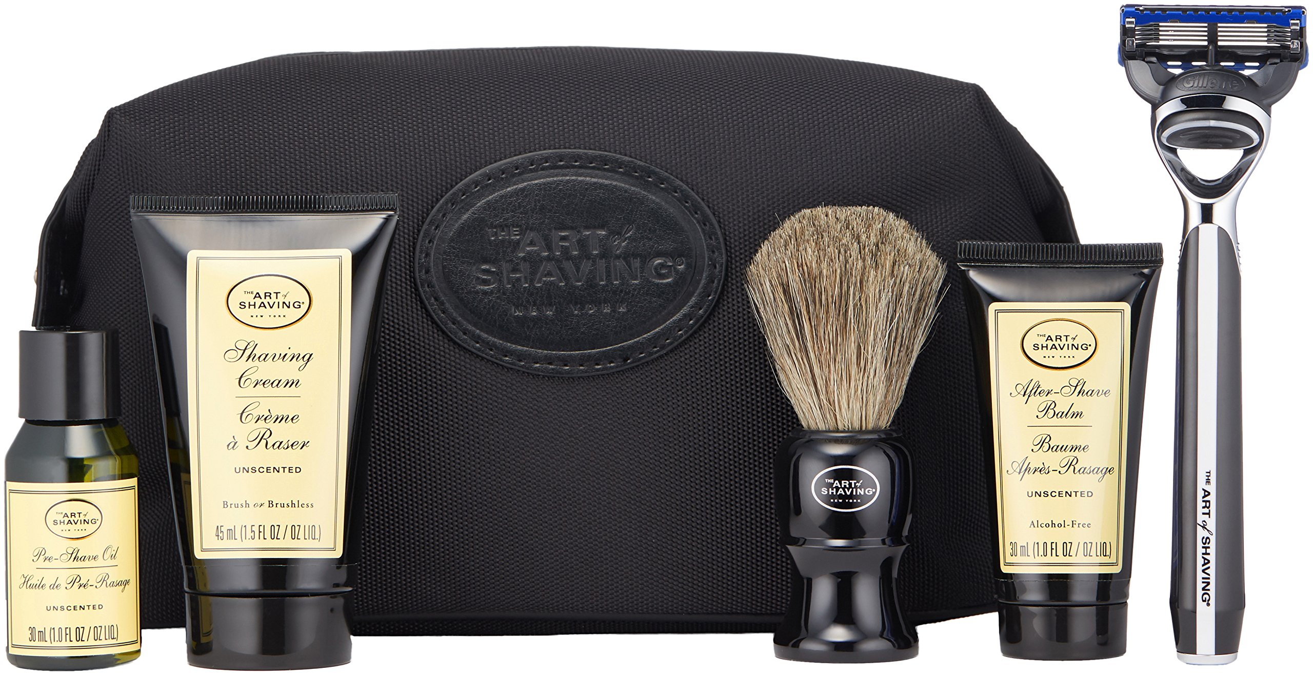 The Art of Shaving 5 Piece Travel Kit with Morris Park Razor, Unscented by The Art of Shaving