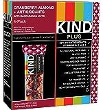 KIND Bars, Cranberry Almond Macadamia Nuts + Antioxidants, Gluten Free, Low Sugar, 1.4oz, 4 Count