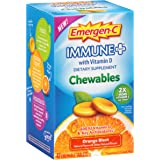 Emergen-C Immune+ Chewables System Support Dietary Supplement Tablet With 600 IU Vitamin D (Orange Blast Flavor, 42 Count)