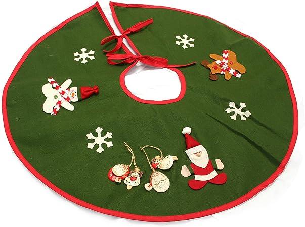 Lujo fieltro árbol de Navidad falda con un pack de 4 adornos para ...