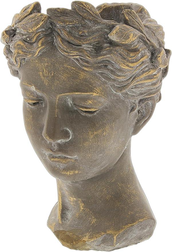 Lucky Winner 10 5 Greek Roman Style Female Statue Head Cement Planter Amazon Ca Patio Lawn Garden