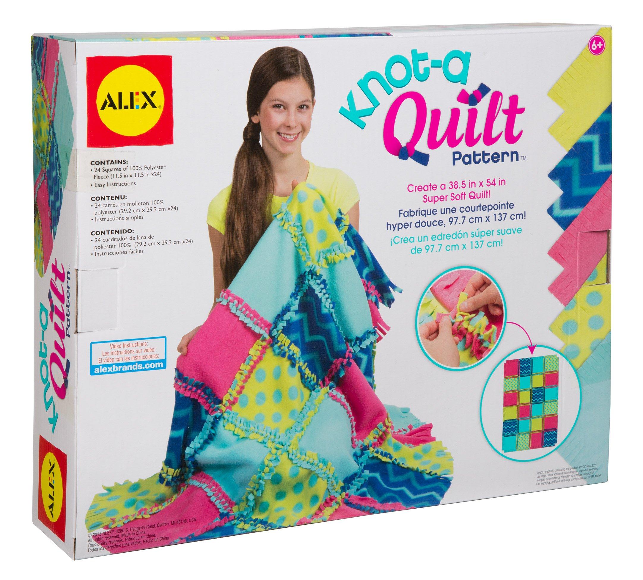 Alex Toys Craft Knot A Quilt Pattern Kit Ezgifthouse