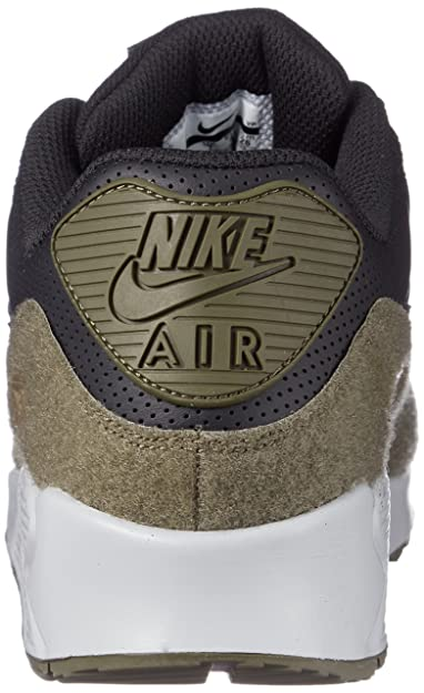 new product 5e108 8d255 Amazon.com   Nike Mens Air Max 90 HAL Running Shoes Black Medium Olive FLT  Silver AO1021-002 Size 9.5   Road Running