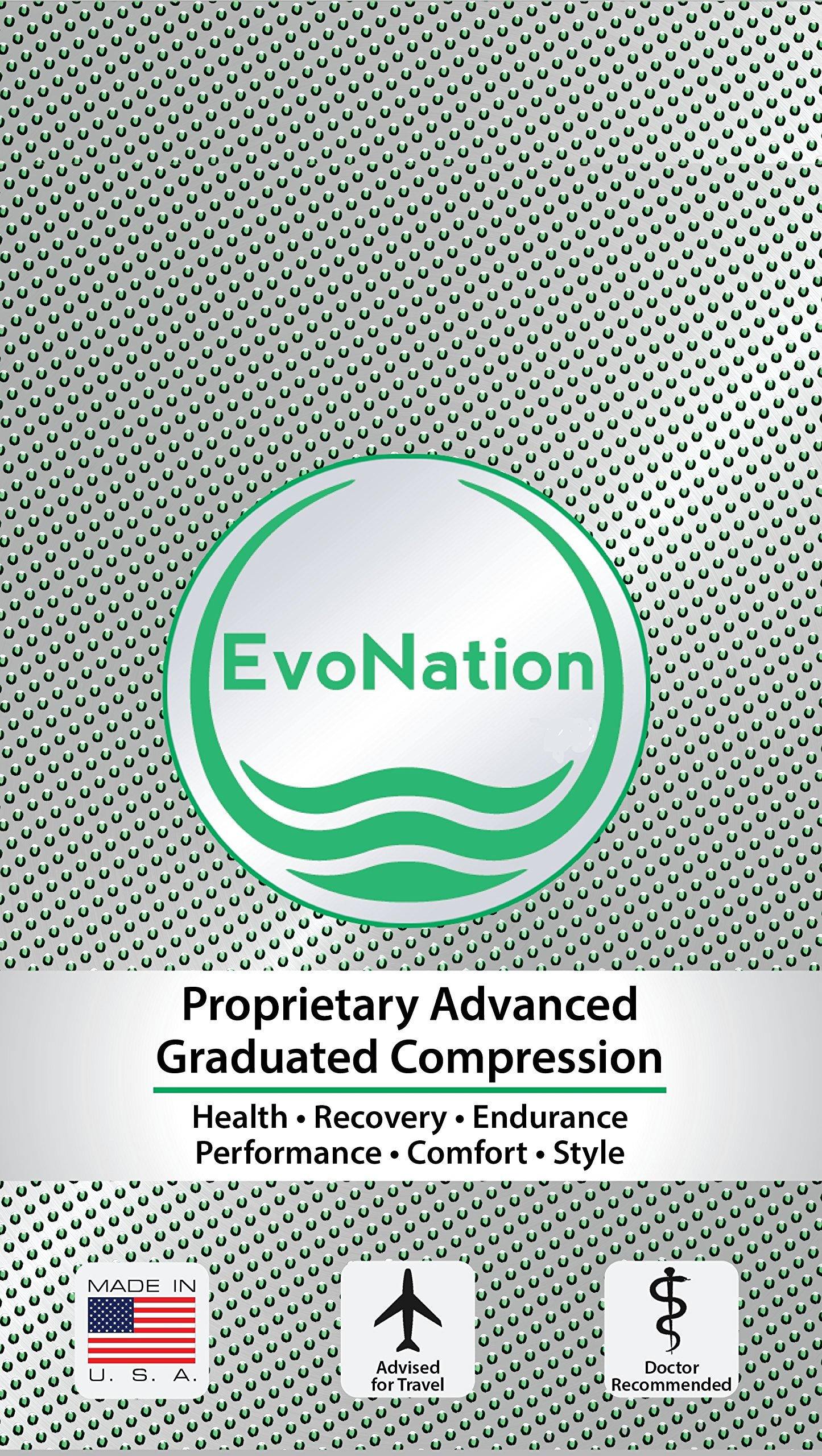 EvoNation Men's USA Made Graduated Compression Socks 20-30 mmHg Firm Pressure Medical Quality Knee High Orthopedic Support Stockings Hose - Best Comfort Fit, Circulation, Travel (Large, Gray) by EvoNation (Image #4)