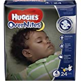 HUGGIES OverNites Diapers, Size 4, 24 ct., Overnight Diapers