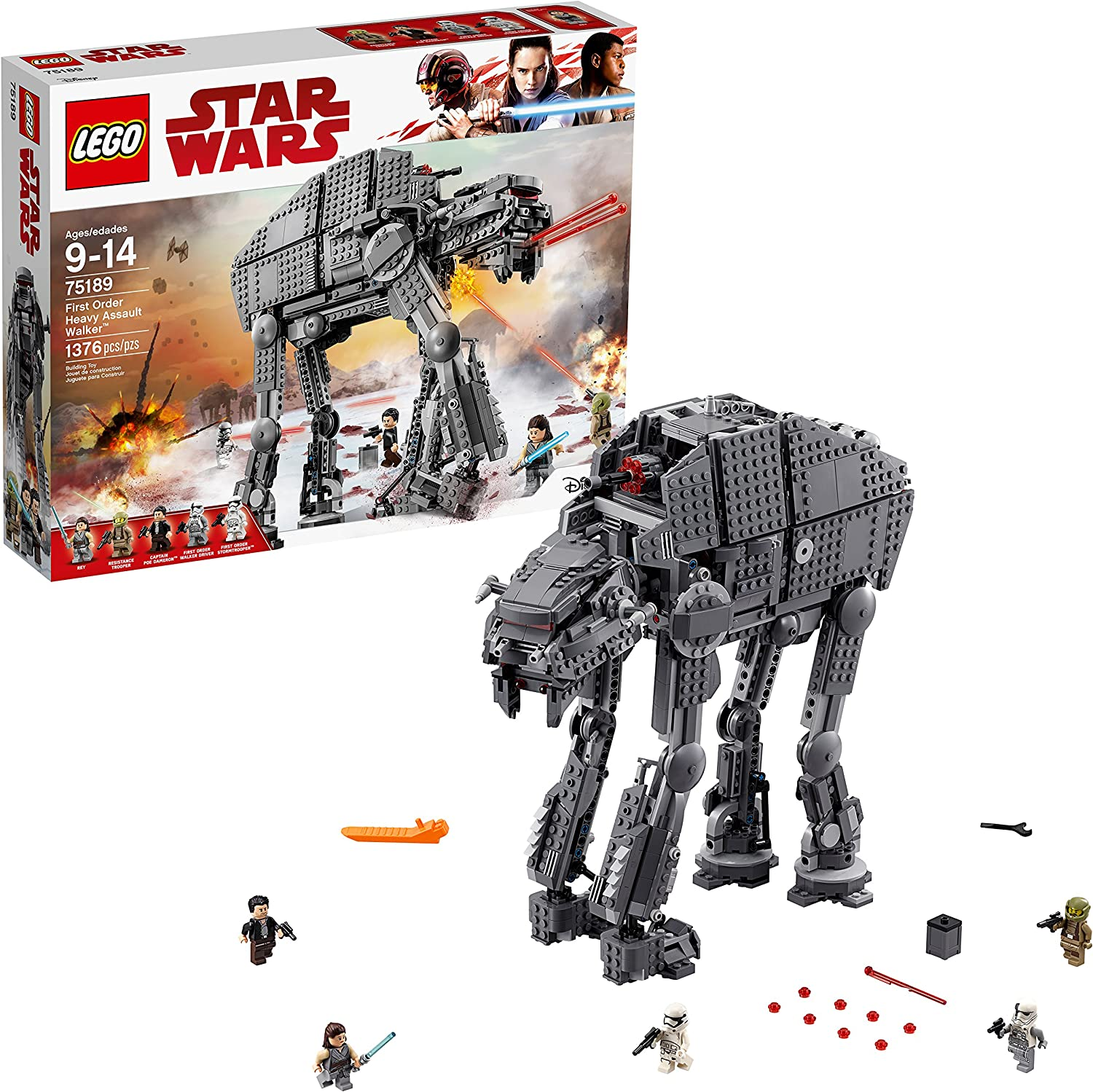 LEGO Star Wars Episode VIII First Order Heavy Assault Walker 75189 Building Kit (1376 Piece)