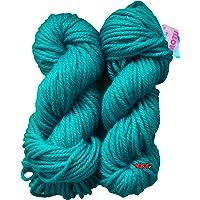GANGA Knitting Yarn Thick Chunky Wool, Teal 200 gm Best Used with Knitting Needles, Crochet Needles Wool Yarn for Knitting. by GANGA