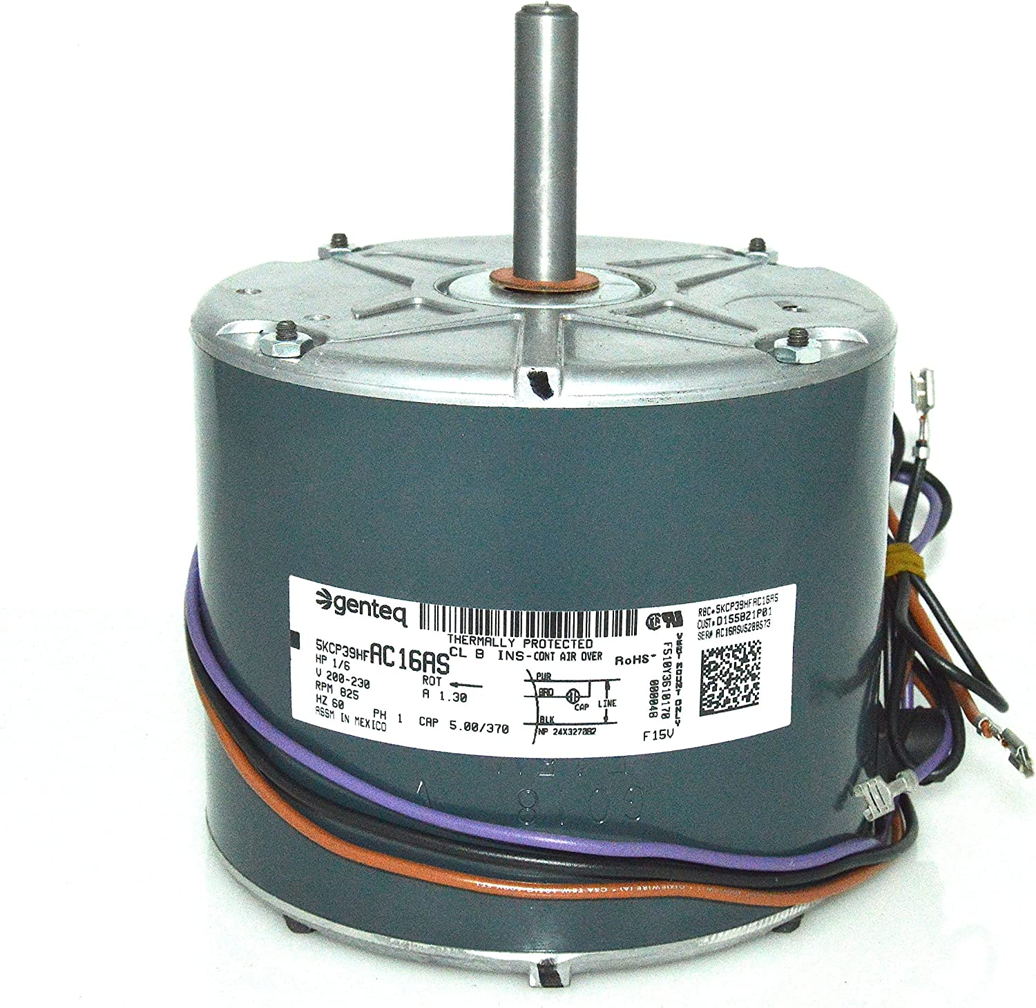 K55HXJPM-9251 Emerson OEM Premium Replacement Condenser Fan Motor 1//6 HP 200-230v 825 RPM