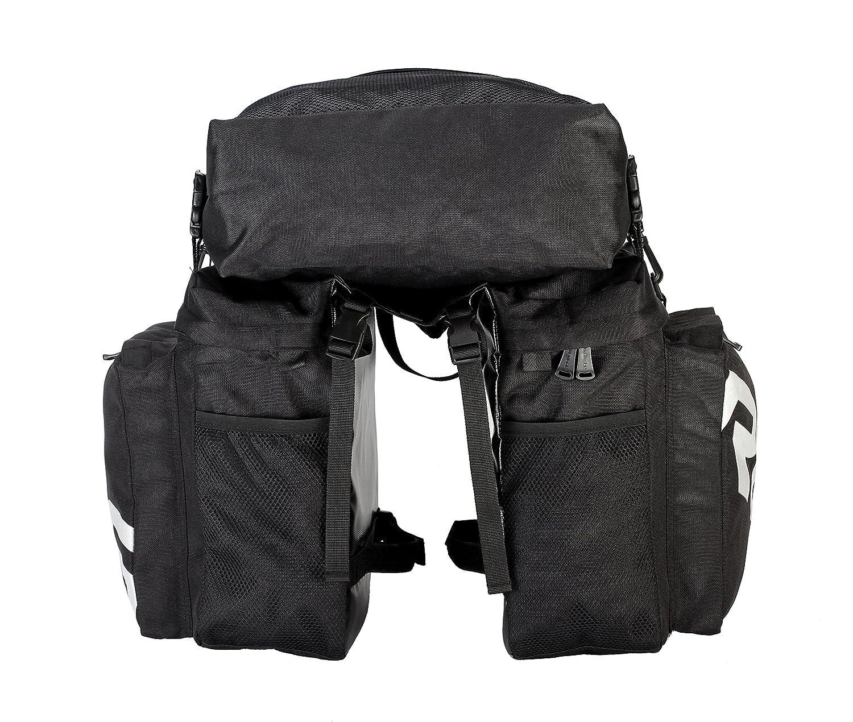 Roswheel 14892 3 in 1 Multifunction Bike Bicycle Rear Rack Panniers Back Seat Cargo Trunk Black