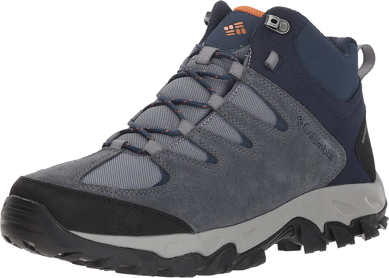 Columbia Mens Buxton Peak MID Waterproof Wide Hiking Boot 7.5 US Cordovan Rusty