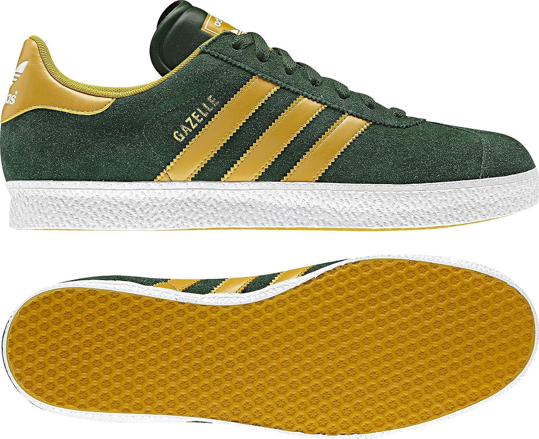 adidas Zapatilla Gazelle II Verde-Amarilla Talla 7,5 UK: Amazon.es: Zapatos y complementos