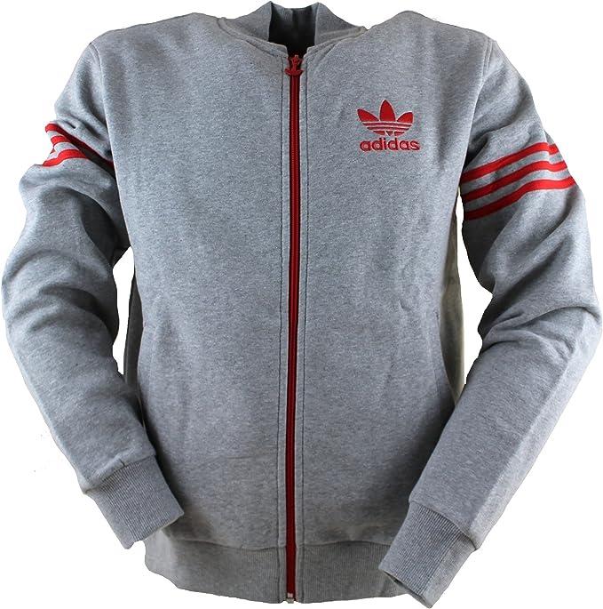 Herren New Adidas Originals Varsity Fleece Pullover Jacke