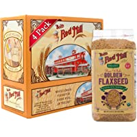 4-Pack Bob's Red Mill Organic Raw Whole Golden Flaxseed