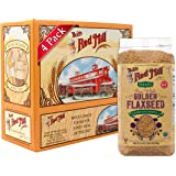 Bob's Red Mill Organic Raw Whole Golden Flaxseed, 24-ounce (Pack of 4) (Package May Vary)