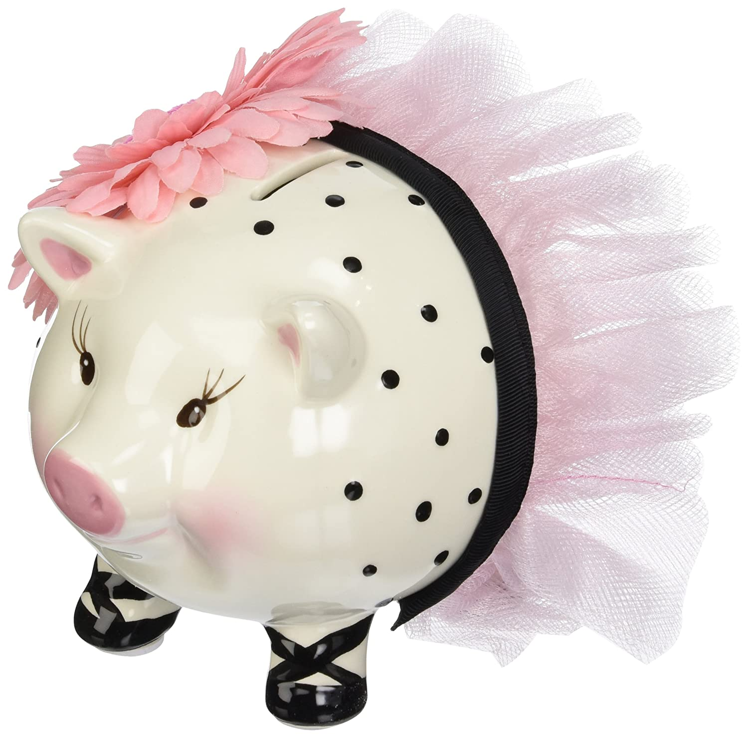 Mud pie ballerina piggy bank mud pie - Amazon Com Mud Pie Baby Perfectly Princess Large Ceramic Piggy Bank Toy Banks Baby