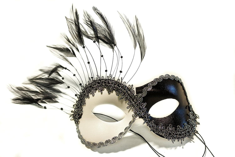 48800deeae3f Amazon.com: Success Creations Transfixed Black White Women's Masquerade Mask:  Toys & Games