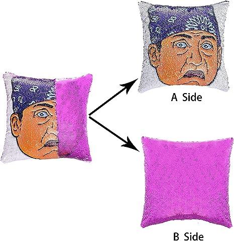 Homeme Sequin Throw Pillow Cover Office Tv Show Pillow Case Dwight Schrute Amazon De Kuche Haushalt
