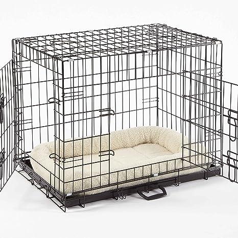 Jaula para perro (pequeño, mediano, grande, XL, XXL) cama y cuenco ...