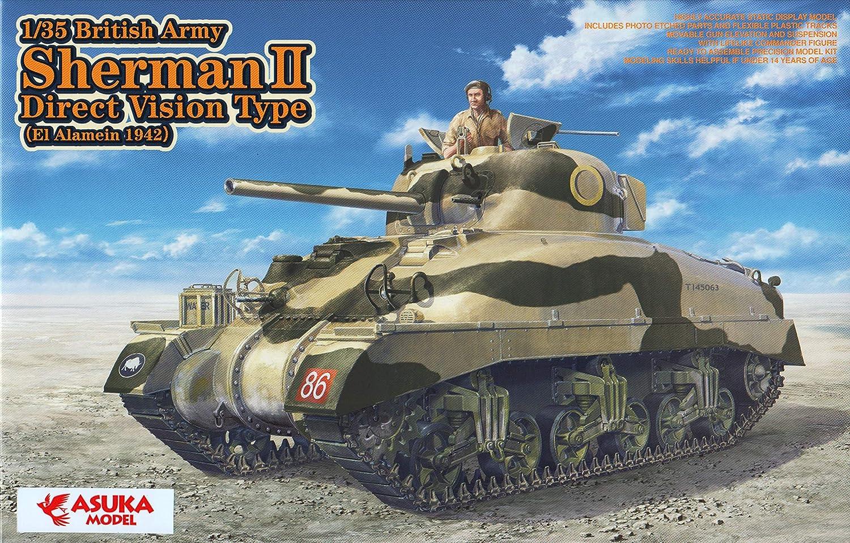 Asuka TAS 35014 - Modellbausatz British Army Sherman II Direct Vision Ty