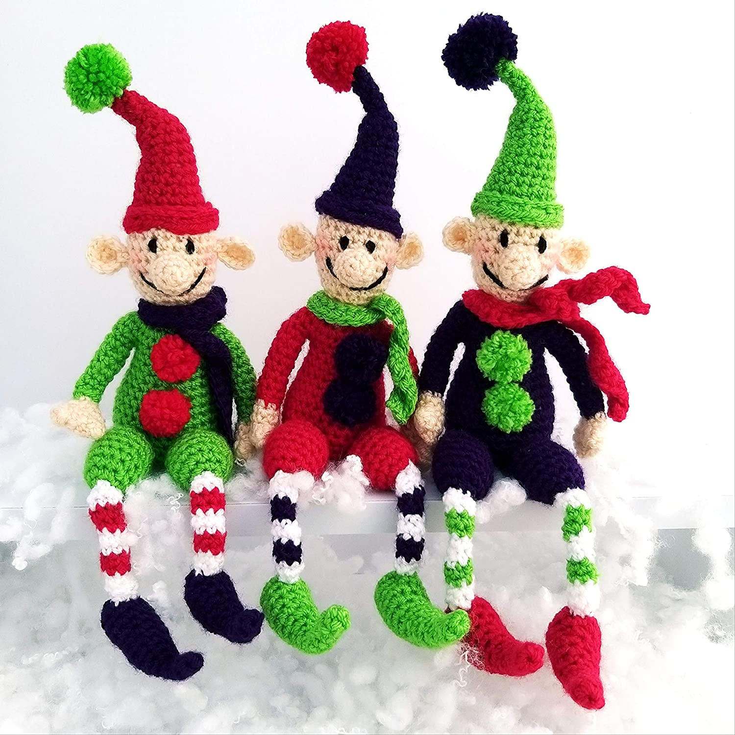 Christmas Crochet Elf Doll Amigurumi Patterns | Christmas crochet ... | 1500x1500