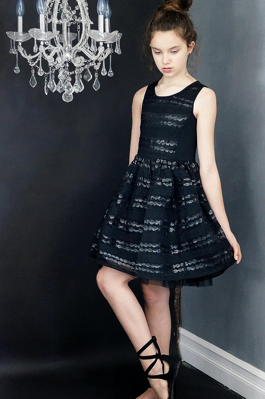 Truly Me Girls' Elegant Faux Leather Lace Party Dress, 7-16 Years:  Amazon.co.uk: Clothing