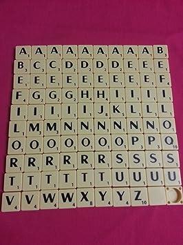 Rainbow 7 Creations Fichas de Plástico Marfil de Scrabble Juego de 100: Amazon.es: Hogar