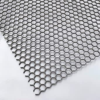Lochblech Alu Streckgitter  Hexagonal 1,5mm HV6-6,7 350 mm x 125mm Neu Gitter