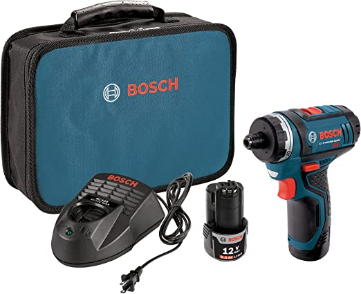 Bosch PS21-2A 12V Max 2-Speed Pocket Driver Kit with 2 Batteries, Charger and Case - Power Pistol Grip Drills - Amazon.com
