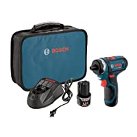 Bosch PS21-2A 12V Max 2-Speed Pocket Driver Kit with 2 Batteries, Charger and Case