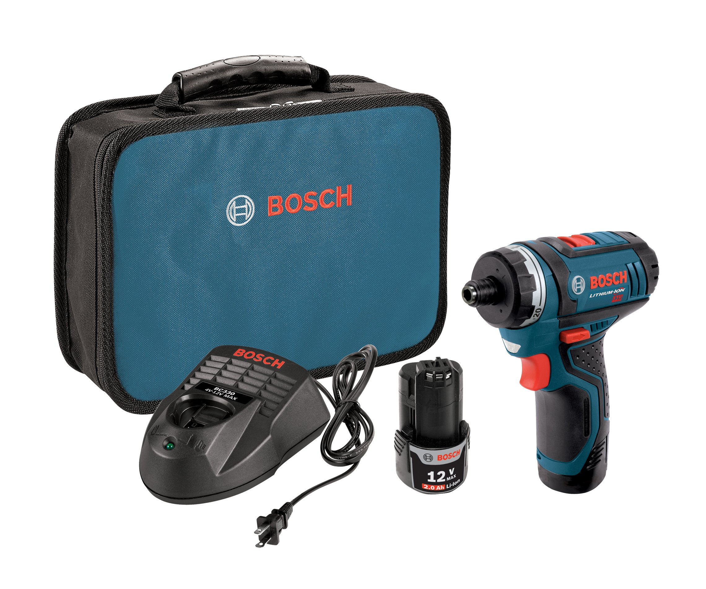 Bosch PS21-2A 12-Volt Max Lithium-Ion 2-Speed Pocket Driver Kit with 2 Batteries, Charger and Case by Bosch (Image #1)