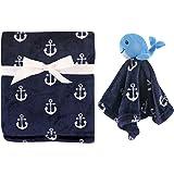 Hudson Baby Plush Blanket & Security Blanket, Nautical Whale