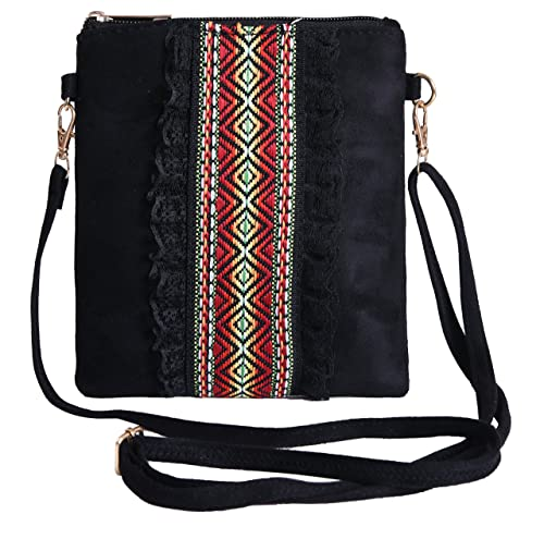 Pulama Crossbody Purse Jacquard Lace Women Handbag Small Crossbody Black   Handbags  Amazon.com 00da52193afd8