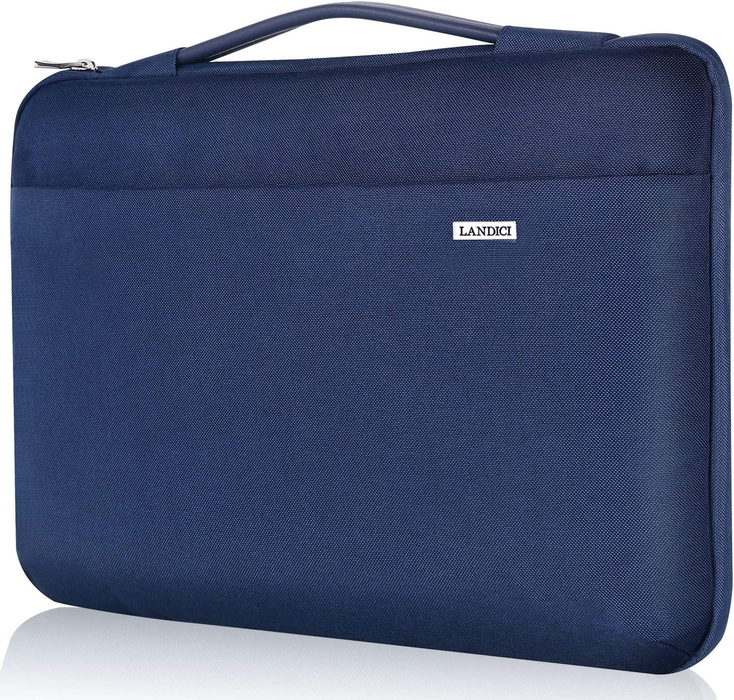 "Landici Laptop Case Sleeve 11.6-12 Inch with Handle,360°Protective Computer Bag Compatible with MacBook Air 11/Surface Pro 7 6/Chromebook/Ipad Pro 12.9,Waterproof 12.5"" Acer Hp Tablet Cover-Blue"