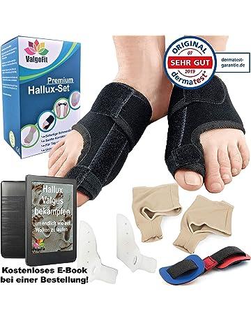 ValgoFit® Corrector de juanetes contra el Hallux Valgus – Separadores de dedos Alivio incl.