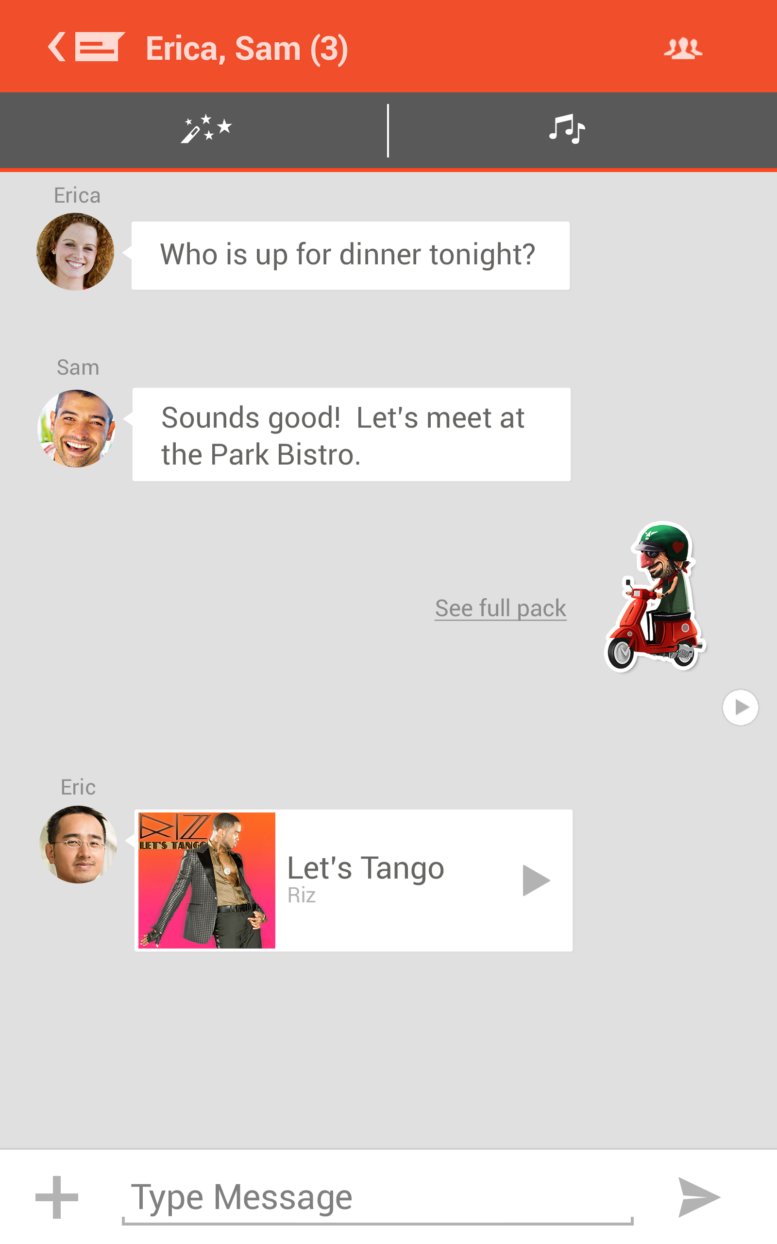 tango app old version